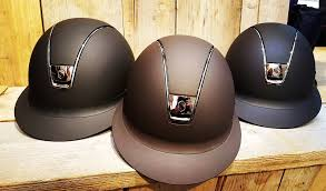 Miss Shield Helmets in Brown and Navy