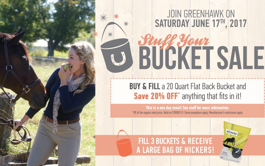 Back By Popular Demand.  It's Our Stuff Your Bucket Sale!