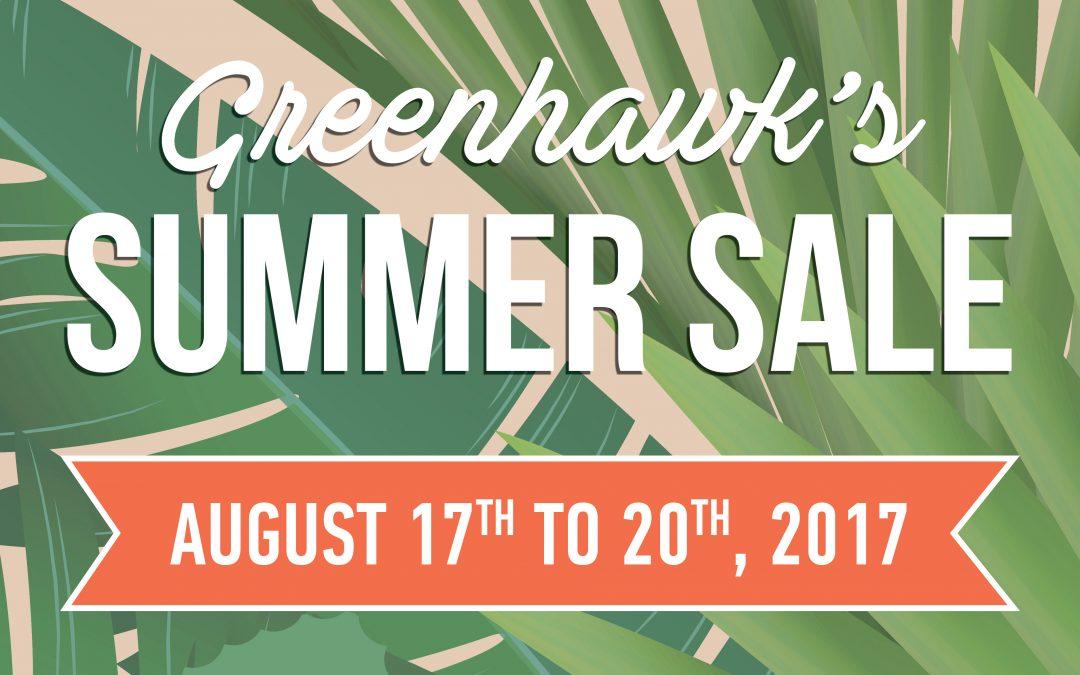Woohoo!  It's Almost Here….Greenhawk Summer Sizzler Sale!